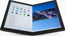 Lenovo создала уникальный ноутбук без клавиатуры. Ее заменили на гибкий дисплей