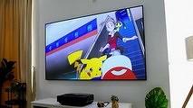 В России вышел лазерный телевизор Hisense с экраном «на всю стену».