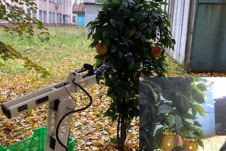 В России построили сверхдешевого умного робота для сбора яблок. Фото