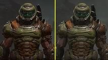 Сравнение графики Doom Eternal на Switch и Xbox One X