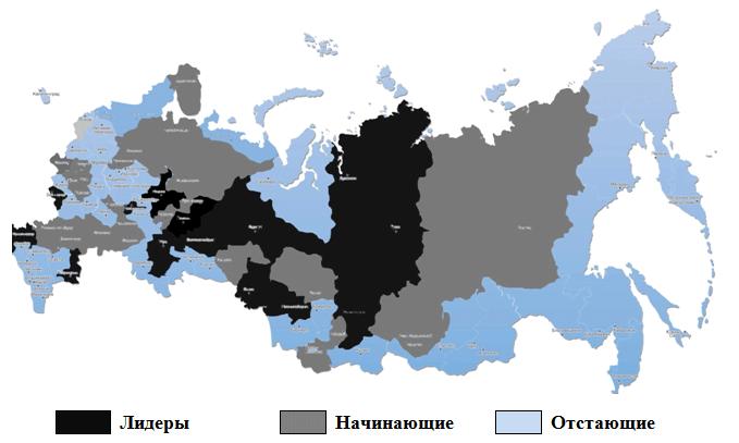 Карта России, регионы