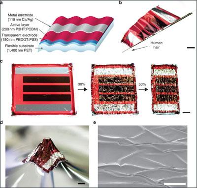 Физики из Японии и Австрии создали сверхтонкие - около 1,5 микрометра толщиной - органические солнечные батареи.