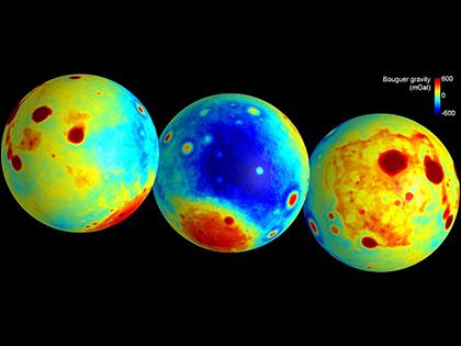 Гравитационная карта Луны: неожиданности и детали естественные науки.