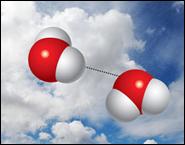 ученые зарегистрировали существование в воздухе димеров воды - связанных пар молекул...