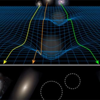 Первый довод в пользу новой теории гравитации без темной материи