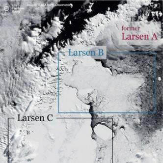 Айсберг размером с две Москвы скоро оторвется от Антарктиды