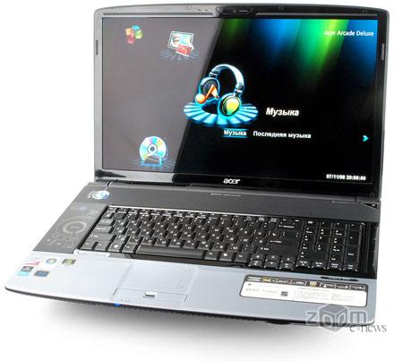 Acer Aspire 8920G отличается внушительными габаритами и весом