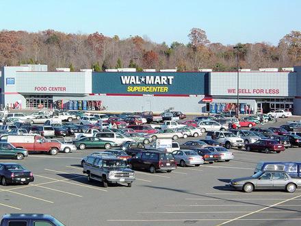 В американских гипермаркетах Wal-Mart удобно покупать продукты раз в две-три недели