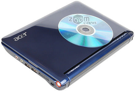 Acer Aspire One миниатюрный, его габариты можно сравнить с небольшой книжкой