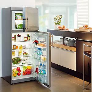 Холодильники с верхним расположением морозилки - классика стиля