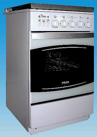 """На фото: газовая плита с романтическим названием  """"Pozis-ПГ 4М 1464-08 """" с электророзжигом, газ-контролем и грилем..."""