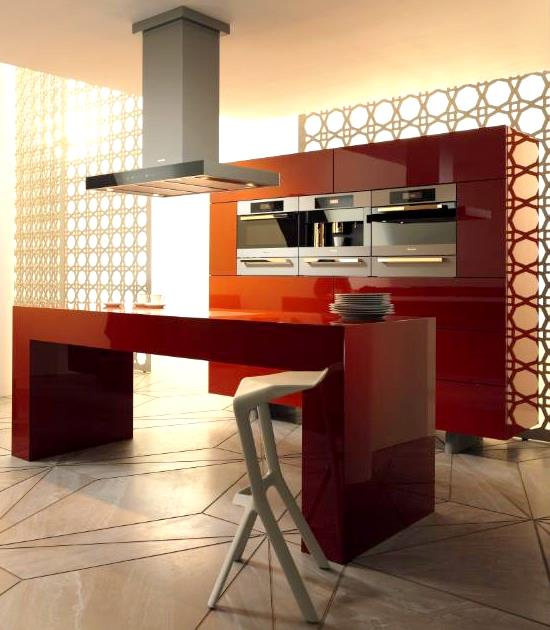 Кухонные гарнитуры со встроенной бытовой техникой, выбранной заказчиком марки, стоят на порядок дороже наборной