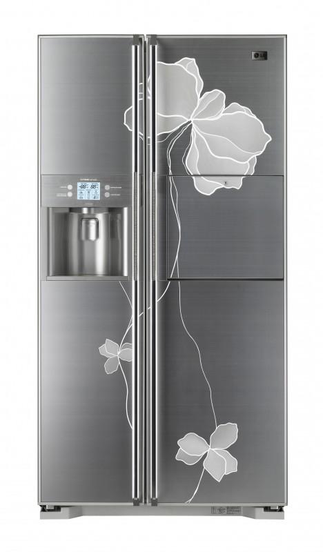 Холодильник LG GR-P247 JHLE.  Самый гламурный холодильник в обзоре.