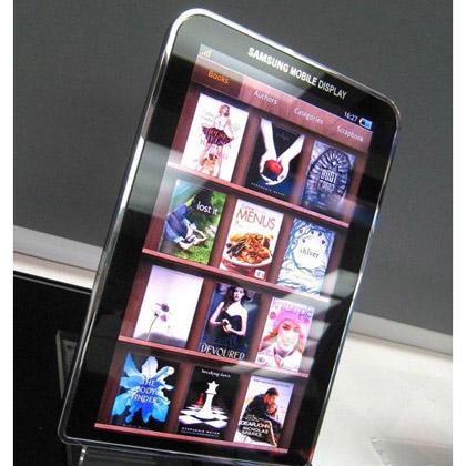 Samsung показала первый в мире планшет с дисплеем Super AMOLED Plus