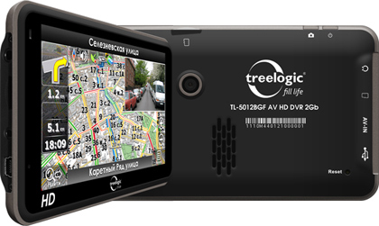 Treelogic анонсировала GPS-навигатор с видеорегистратором 5012BGF AV HD DVR 2 Гб=