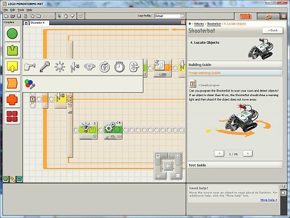 Программа для программирования роботов nxt