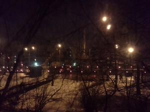 Кадр, снятый ночью на камеру смартфона