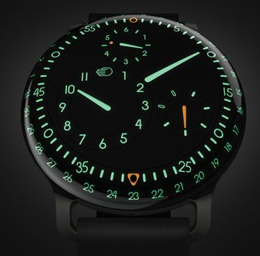 Ressence Type 3 Dial slight lume.