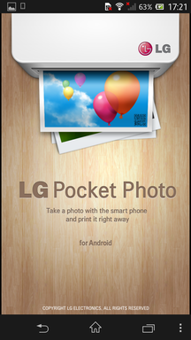 Заставка LG Pocket Photo