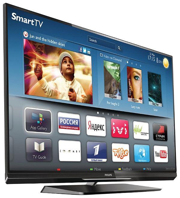 Philips 47PFL6057T – это 3D-телевизор с возможностью подключения к сети Интернет проводным и беспроводным способом
