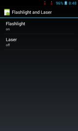 Управление лазером и фонариком