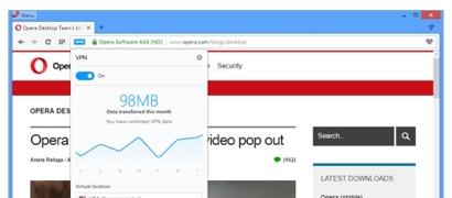 Блокировки больше не страшны. В браузере Opera укоренился бесплатный VPN