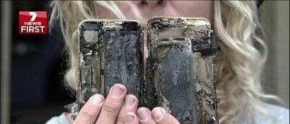 Взорвавшийся iPhone 7 сжег автомобиль. Видео