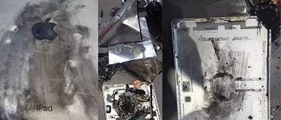 Хозяин iPad Air по счастливой случайности не пострадал при взрыве планшета. Фото