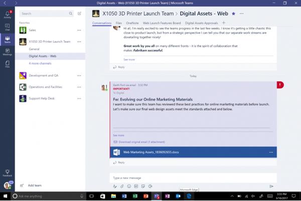 Microsoft Teams запущен для всех бизнес-пользователей Office 365
