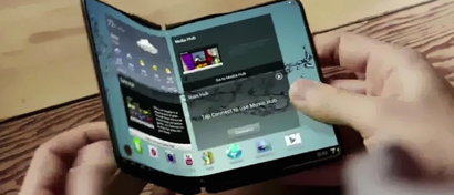 Samsung показала два секретных гнущихся смартфона