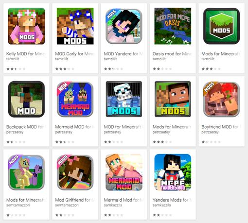 В Google Play найдено 87 зловредных модов для Minecraft