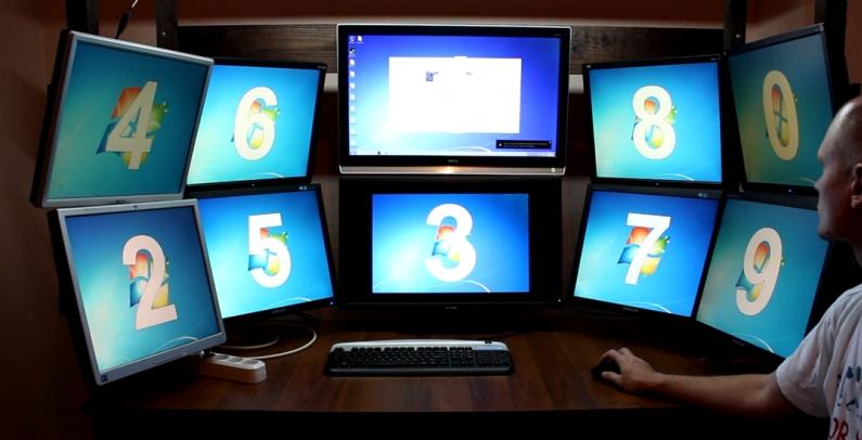 Как сделать два экрана в одном на windows 10