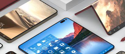 Microsoft готовит гибкий смартфон