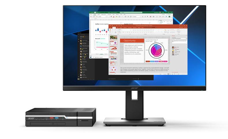 Обзор мини-ПК Acer Veriton N4670G: мал да удал
