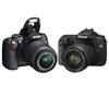 ���������� ���������� ��� �������. ����-�����: Canon 500D ������ Nikon D5000.