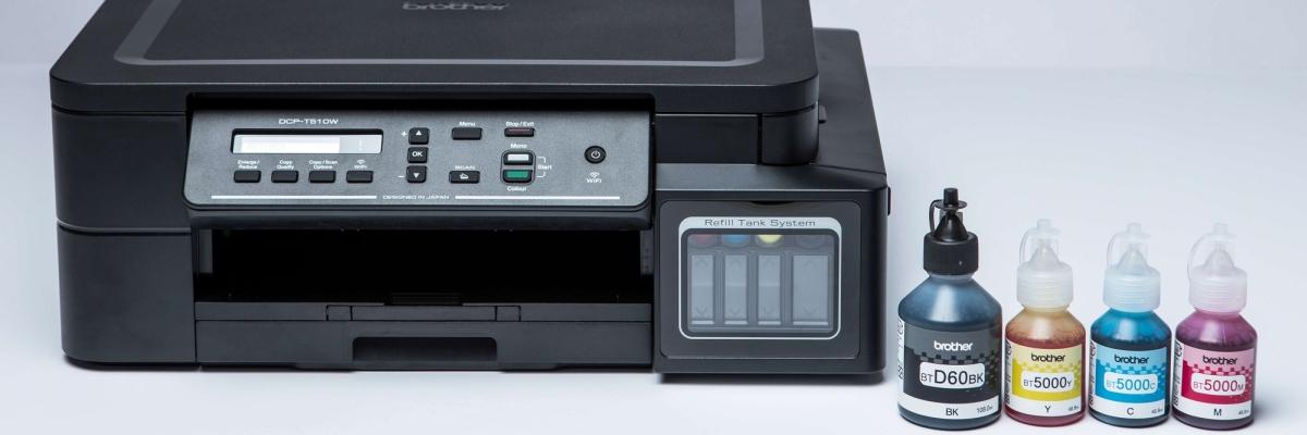 Обзор МФУ Brother DCP-T510W: печатаем экономно