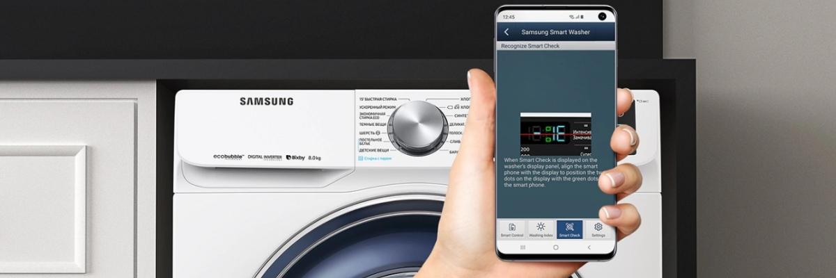 Обзор стиральной машины Samsung WW80R62LVFX: чистота за 49 минут
