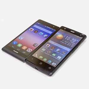 ������� ���� ��������������: Huawei Ascend P6S � Acer Liquid E3